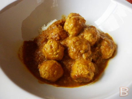 albondigas pavo curry con arroz